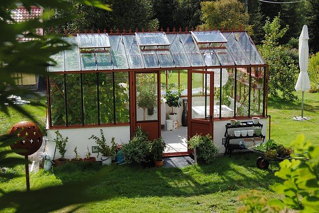 skleník s posezením