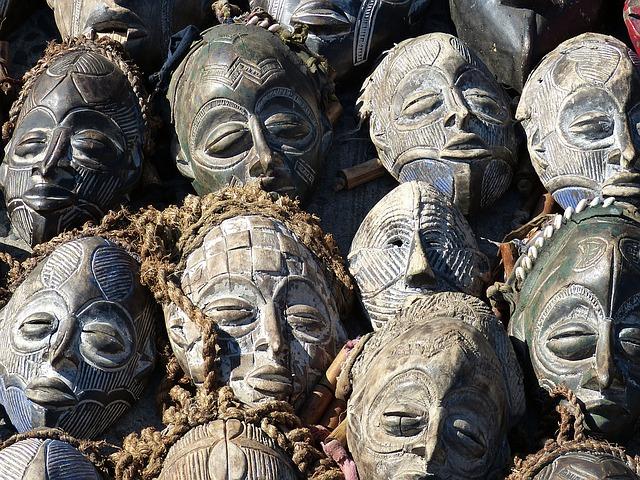 jihoafrické masky