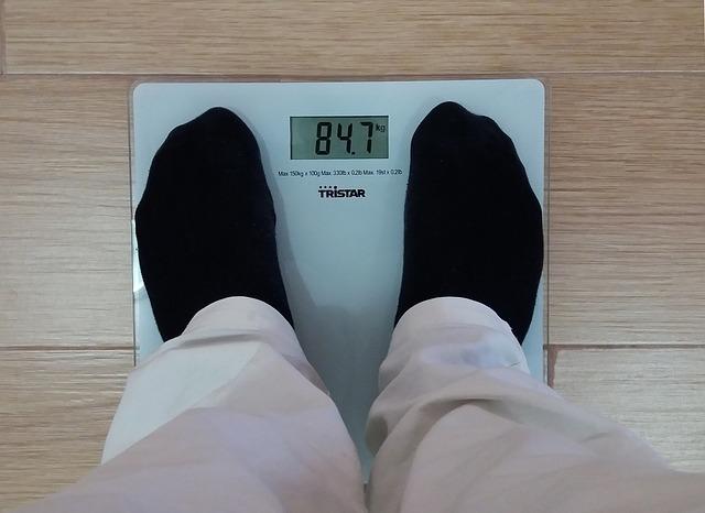 hmotnost muže