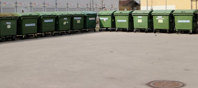zelené kontejnery