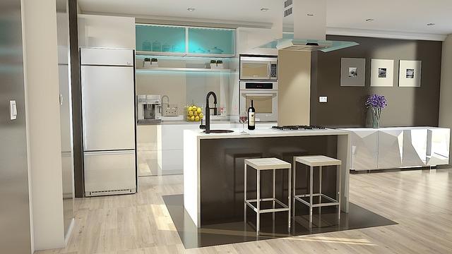 Návrh luxusní kuchyně do bytu