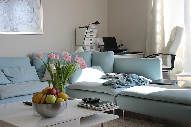 sedačka v obýváku