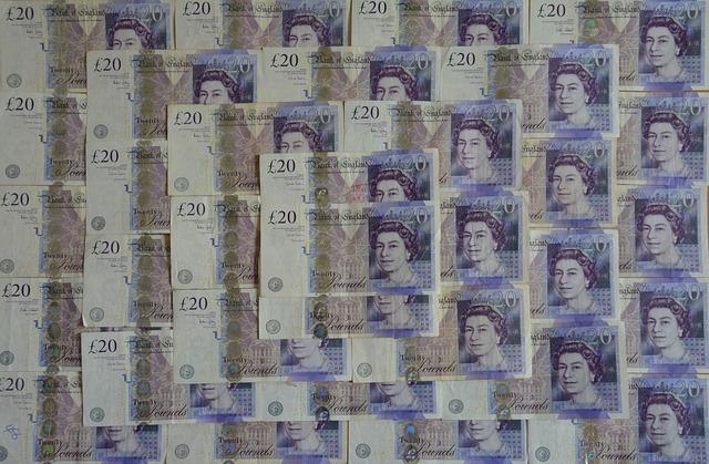 tapeta z 20librových bankovek