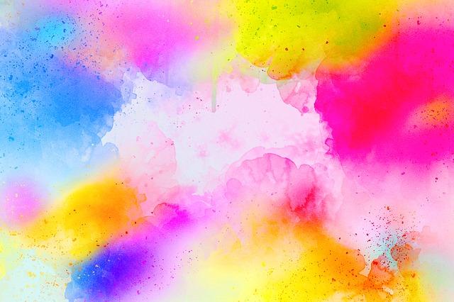 Barvy – akvarel v pastelových tónech