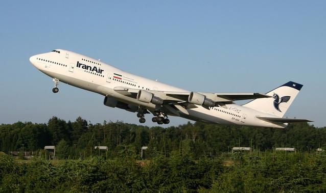 vzlétající letadlo Iran Air