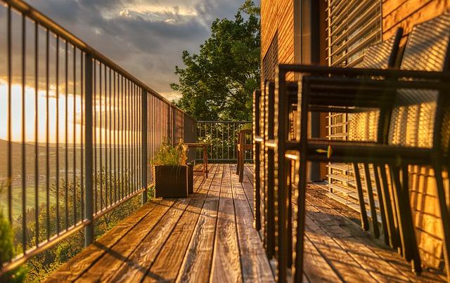 dřevěný balkon