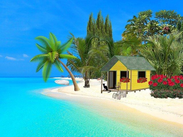 malý domek na pláži
