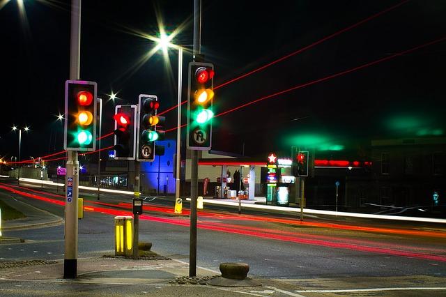 večerní městský provoz